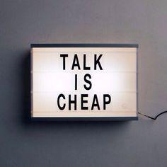 Talk is cheap // chet faker