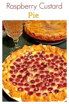 Raspberry Custard PIe from Platter Talk is an easy homemade pie that is a must for those who love raspberry pie. Make it with our homemade pie crust recipe! Raspberry Cream Pies, Raspberry Desserts, Easy Desserts, Delicious Desserts, Dessert Recipes, Raspberry Custard Pie Recipe, Strawberry Pie, Candy Recipes, Breakfast Recipes