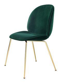 'Beetle Velvet Dining Chair by Gubi.