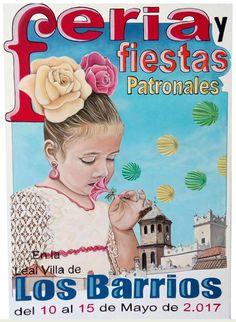 CARTEL FERIA Y FIESTAS PATRONALES DE LOS BARRIOS 2017