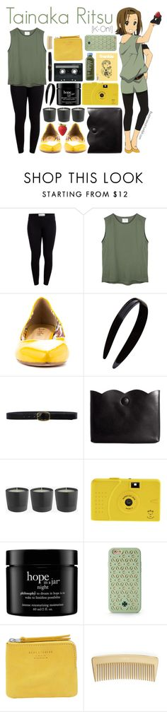 """""""Tainaka Ritsu [K-On!]"""" by ibuperisesat ❤ liked on Polyvore featuring Pieces, 2 Lips Too, France Luxe, Linea Pelle, ASOS, CASSETTE, philosophy, Tory Burch, Acne Studios and AERIN"""