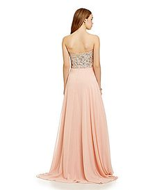 8ad386233 Glamour by Terani Couture Strapless BeadedCorset Gown #Dillards Glamour By  Terani Couture, Dillards