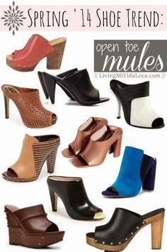 10 best open toe mules for Spring 2014 | LivingMiVidaLoca.com #Spring2014