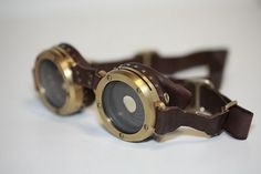 """Yes, this is yet another """"Awesome Steampunk Fashion Accessory"""" post, but this one is extra-splendiferous. Mike Brown's brass goggles have the leather bolted with tiny precision-engineered rivets to the eyeglasses. The leather itself uses a special tanning process specifically devised for headwear, and the leaf-aperture mechanism is designed to last 500 years.    They are not for sale.    Project page [Smugmug via Wired:Gadget Lab]"""