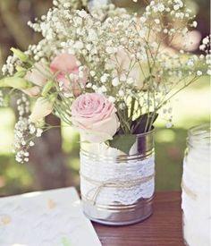 Vase conserve gypsophile