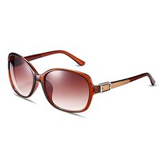 34d7277b0e1de HMILYDYK Womens Oversized Sunglasses Shades Vintage Classic Polarized  Mirror Lens Oval Round Frame Eyewear Uv400