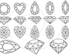 Diamonds and gem stones, jewels, jewelry, digital clip art, clipart, clip-art set, graphic design, scrapbooking, vector, instant download