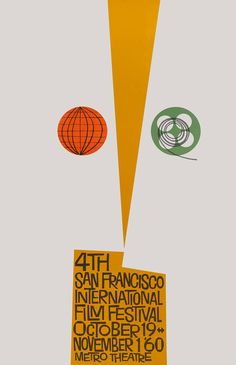 4th San Francisco Film Festival (1960) Outstanding and rare original poster by legendary poster artist Saul Bass (1920 - 1996)  		 	 		 	 		 4th San Francisco Film Festival (1960) Outstanding and rare original poster by legendary poster artist Saul Bass (1920 - 1996)