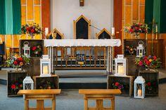 ceremony setup - photo by Lushana Bale Photography http://ruffledblog.com/colorful-bohemian-wedding-in-ontario