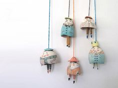 If you're anything like us, you'll quite fancy the look of these handcrafted bells by Melbourne ceramicist Yen Yen Lo.