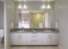Contemporary Master Bathroom with Complex granite counters, Flush, Complex Granite, Grigio Nube, Quartz by Arizona Iran