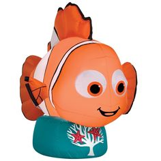 Outdoor Inflatable Airblown Nemo with Base for Home Garden Yard Decoration New #OutdoorInflatableAirblown