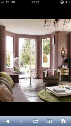 Dusty pink walls and trim same color