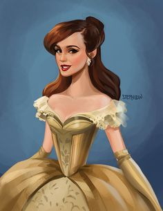 Emma Watson as Belle! Can't wait till this new film comes out she's going to be amazing!