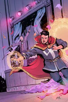 HeroChan — Doctor Strange Art by Sachi Ediriweera Marvel Comics Art, Marvel Fan, Marvel Heroes, Marvel Avengers, Strange Magic, Strange Art, Doc Strange, Comic Books Art, Comic Art