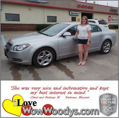 """She was very nice and informative and kept my best interest in mind!""  Claud and Bethany M. Norborne, Missouri"