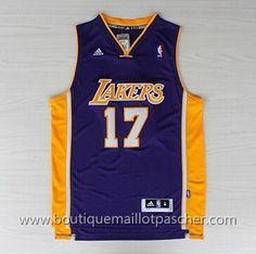 maillot nba pas cher Los Angeles Lakers Lin #17 pourpre nouveaux tissu