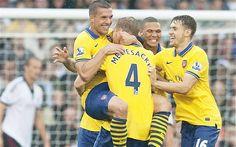 Arsenal menang 3-1 atas Fulham, Lukas Podolski 2 gol | BDbola.com