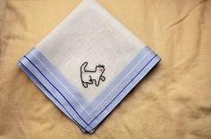 kitty hankie--aimee ray doodle motifs