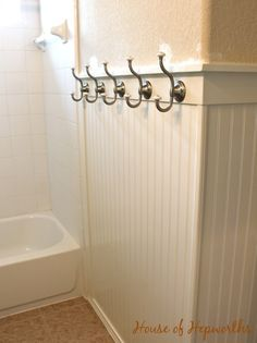 kids' bathroom update: paint and hardware (and a lot of snark)