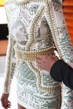 baroque, woman fashion, pierre balmain, style, pearls, the dress, stud, stunning dresses, embellishments