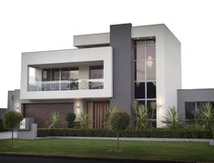 The Attadale Custom is a representation of the vision and quality found in every Seacrest Homes luxury residential building project. 2 Storey House Design, Duplex House Design, House Front Design, Modern House Design, Modern House Facades, Modern Architecture House, Modern House Plans, Architecture Design, Home Building Design