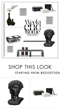 """""""Weekend In Rome  *  Modern Marble"""" by pat912 ❤ liked on Polyvore featuring interior, interiors, interior design, home, home decor, interior decorating, LARA, modern, Home and polyvoreeditorial"""