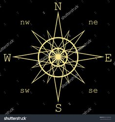 Wind Rose Isolated Vector Illustration.Compass. - 351609206 : Shutterstock