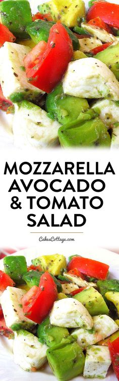 Tomato, Cucumber and Mozzarella Cheese Salad – My Salat Healthy Snacks, Healthy Eating, Healthy Recipes, Tomate Mozzarella, Tomato Salad, Vegetable Salad, Soup And Salad, Salad Recipes, Avocado Recipes