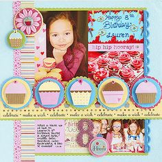 {LOVE THE ACCENTS ON THIS PAGE} Mat Accents with Scalloped Circle Punches