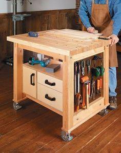Multipurpose Cart - Shopnotes #110 p.26 #WoodworkingIdeas #WoodworkingTools #woodworkathome #homewoodworkingshop