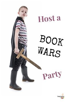 love this idea to make reading FUN -- host a BOOK WARS party!! (Like Cupcake Wars but with books.)