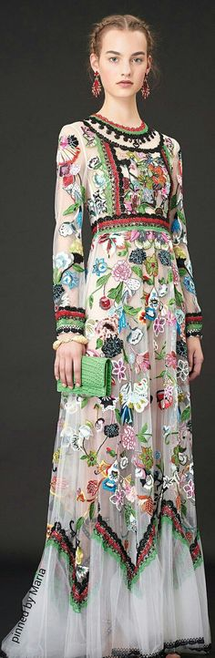 Valentino Resort 2015 - beautiful, but definitely needs some kind of slip underneath so it's not see-through, lol.