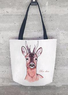 ROE DEER - DEAU  http://shopvida.com/collections/dominique-janssens  #roe #deer #christmas #fashion #pillow #interior #forest #nature #home #decoration #luxury #scarf #tote #bag