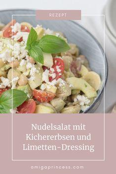 Nudelsalat mit Kichererbsen Food Inspiration, Potato Salad, Office, Dressing, Potatoes, Avocado, Cooking, Ethnic Recipes, Diy