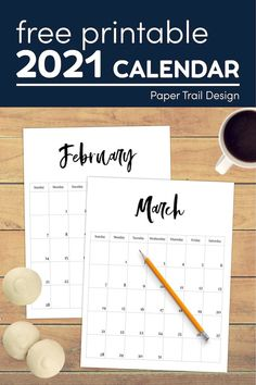 Use this free printable monthly calendar for some budget friendly organization and planning. #papertraildesign #calendar2021 #monthlycalendar #2021monthlycalendar #2021freecalendar #fullpageprintablecalendar 2021 Calendar, Free Calendar, Calendar Pages, Free Printable Calendar Templates, Printable Banner, Free Printables, Fun Arts And Crafts, Business Planner, Paper Trail