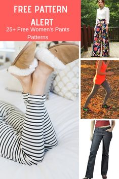 8ba756dcd5c9 FREE PATTERN ALERT  25+ Free Women s Pants Patterns - On the Cutting Floor   Printable pdf sewing patterns and tutorials for women