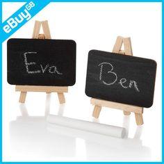 10 X MINI EASEL CHALK BLACK BOARD WEDDING PLACE NAME HOLDER - CAFE TABLE NUMBER | eBay