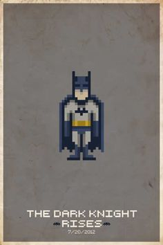 Thinking of making a pixel Batman quilt for the baby...