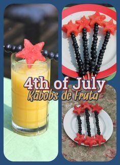 Pinchos de Fruta para el 4 de Julio