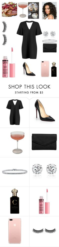 """Swedish house dinner 🍴"" by miss-lelee-swagg ❤ liked on Polyvore featuring Boohoo, Christian Louboutin, Schott Zwiesel, LULUS, BERRICLE, Clive Christian, Charlotte Russe and Battington"