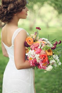loose fresh spring floral bouquet from Blush Petal See more stunning bouquets here http://www.weddingchicks.com/2013/08/16/bohemian-bridal-ideas/