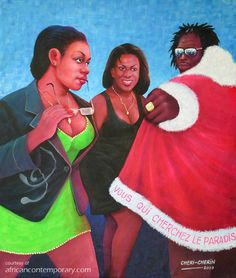 Contemporary African Art Gallery featuring Paintings by Cheri CHERIN. Contemporary African Art, Art Gallery, Disney Princess, Disney Characters, Painting, Inspiration, Africa, Biblical Inspiration