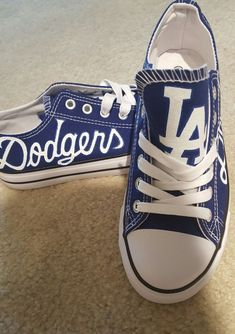 49d8782ad2539 Men and Womens LA DODGERS hand painted sports fan shoes!!!