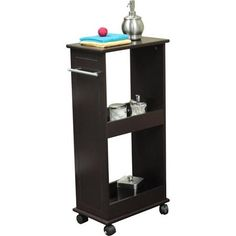 RiverRidge Rolling Cabinet with Shelves, Espresso - Walmart.com