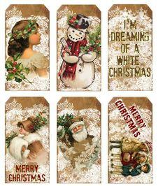 Kerst labels (LT063)   Kerst   Doornroosjes - cute Christmas tags