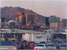El Paso, Texas - Can be a scary place at times, but I loved the desert. The actually climbed the Mnt  Ridge in the background of the pic. You can see 3 states from there an incredible view