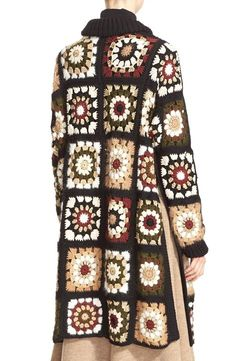 Granny Square Crochet Cardigan Pattern Ideas for Summer or Winter - Page 45 . Granny Square Crochet Cardigan Pattern Ideas for Summer or Winter – Page 45 of 59 – lasdies Gilet Crochet, Crochet Coat, Crochet Cardigan Pattern, Crochet Jacket, Crochet Shawl, Crochet Clothes, Crochet Patterns, Boho Crochet, Pull Crochet