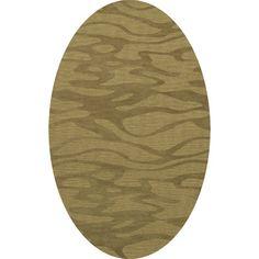 Dalyn Rug Co. Bella Green Area Rug Rug Size: Oval 8' x 10'