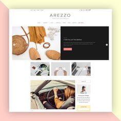 Arezzo - Minimal and Modern WordPress Blog Theme - AZTheme Corporate Blog, Top Wordpress Themes, Blog Layout, Themes Themes, Website Themes, Web Design, Minimal, Modern, Amazing Things